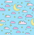 Sky cartoon seamless pattern color