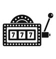 slot machine icon simple style vector image