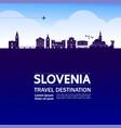 slovenia travel destination vector image vector image