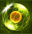 sphere consisting of points data exploding sphere vector image vector image