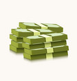 stack dollars on white background money and vector image