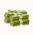 stack dollars on white background money vector image
