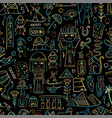 travel to egypt seamless pattern for your design vector image