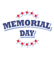 us memorial day logo isolated on white background vector image vector image