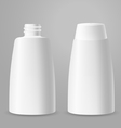 White plastic opened and closed bottles vector image vector image