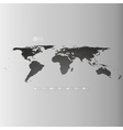 world map in perspective infographic template vector image vector image