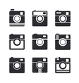 Camera icons Hipster photo camera pictogram vector image