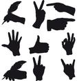 few hand gestures vector image