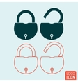 Padlock icon isolated vector image