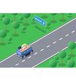 Isometric road trip vector image