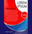 red and blue background design a flyer brochure vector image