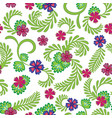 a simple floral pattern convenient for editing vector image vector image
