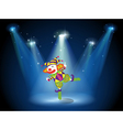 A stage with a playful clown vector | Price: 1 Credit (USD $1)