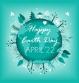 april 22 banner happy earth day card design vector image