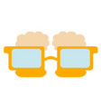 beer shaped eyeglasses icon vector image vector image