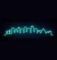 blue neon skyline wellington city bright vector image vector image
