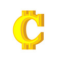 c letter bitcoin font cryptocurrency alphabet vector image vector image