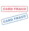 card fraud textile stamps vector image vector image