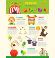 circus infographics set vector image vector image
