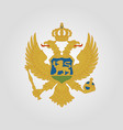 coat of arms of montenegro vector image