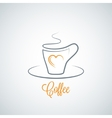coffee cup concept background vector image vector image