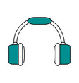 color silhouette image of headset stereo sound vector image