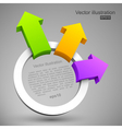 Colorful arrows with circle 3D vector image vector image