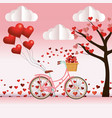 cute bicycle cartoon vector image