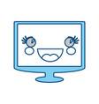 cute tv screen vector image vector image