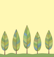 Decorative background of a stylized trees vector image