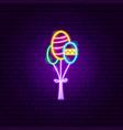 decorative balloons neon sign vector image