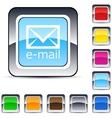 E-mail square button vector image