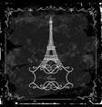 eiffel tower on a blackboard vector image vector image