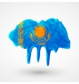 Flag of Kazakhstan painted colors vector image