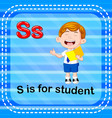 flashcard letter s is for student vector image vector image