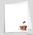 flower pot White papers vector image vector image