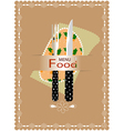 Fork and knife for eating vector image vector image