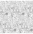 Garbage doodle seamless pattern vector image