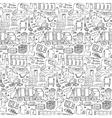 Garbage doodle seamless pattern vector image
