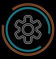 gear icon logo element vector image