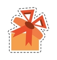 gift box present festive decoration line dotted vector image vector image