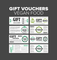 Gift vouchers organic food vector image