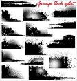 grunge black splat - set vector image vector image