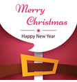 happy new year merry christmas santa claus vector image