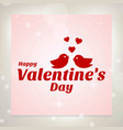 happy valentines day card with love birds vector image