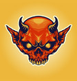 head horn red devil mascot vector image vector image