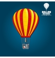 Hot air balloon with detailed elements vector image vector image