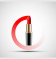 icon red lipstick vector image vector image