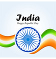 india republic day 26 january indian background vector image