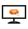 isolated screen tv icon vector image vector image